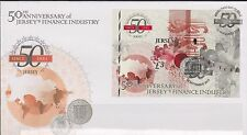 GB - JERSEY 2011 Finance Industry/50th Anniversary £3 Mini-Sheet SG MS1611 FDC
