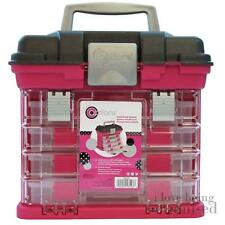 Organiser Storage Box Crafts Hobbies Small Rack System 4 Pull Out Trays