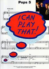 I Can Play que-Pops 5-Fácil Piano Partituras Libro Pop Cancionero Shop sucias