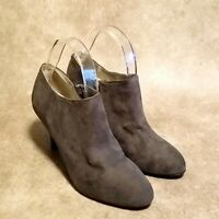 Massini Womens Sheena Sz 7 M Gray Heeled Ankle Boots Booties