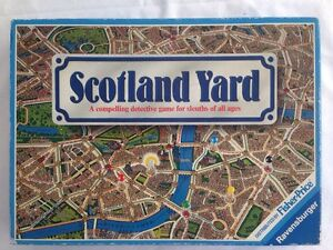 Vintage 1983 Ravensburger Scotland Yard Police Detective Travel Board Game Boxed