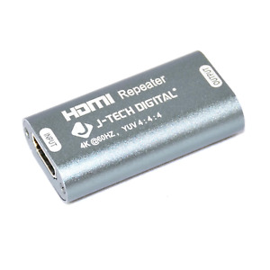J-Tech Digital HDMI 2.0 Repeater Connector Support Extender 1080P 4K x 2K 60HZ