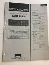 SANSUI AU-D11II AMPLIFIER ORIGINAL SERVICE REPAIR MANUAL