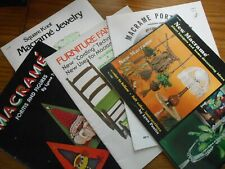Lot of Vintage Macrame Pattern Booklets - all pictured