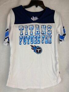 NFL Tennessee Titans Ladies White Maternity T-shirt Medium
