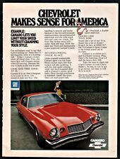 1974 CHEVROLET CAMARO LT or Z28 Red Sport Coupe 1970s Seventies Car Photo AD