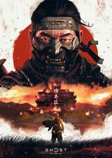Ghost Of Tsushima Poster Ghost Of Tsushima A4 Poster Laminated Gamer Poster