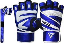 RDX Gewichtheffen handschuhe Fitness Workout Gloves Sporthandschuhe  Blue  2XL N
