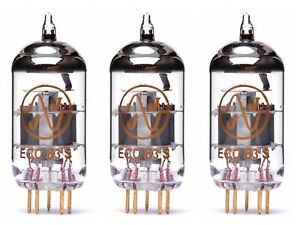 3x ECC83S Gold Pin JJ-Electronic NUOVE NEW TERZETTO TRIS MATCHED 12AX7 ECC83