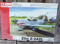 AZ Modell 7608 Bausatz 1/72 Zlin Z 242L Militär Guru eingeschweißter Bausatz