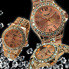 Black Friday Sale NY London Ladies Sparkling Crystal Valentine Watch £59.99 7058