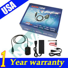 New USB 2.0 to IDE SATA S-ATA 2.5 3.5 Hard Drive HD HDD Converter Adapter Cable