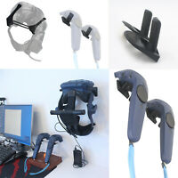 Support Helmet Wall Mount Holder Hook for HTC Vive / Pro Headset / Controllers