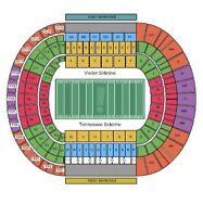 2 Lower Level tickets Tennessee Volunteers VOLS vs Missouri UT VOLS Football
