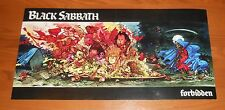Black Sabbath Forbidden Poster 2-Sided Flat Square 1995 Promo 12x24 RARE