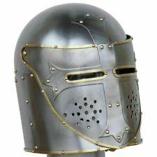 Helmet Medieval Knight Helmet 18 Gauge Steel Great Knight Templar Armor Helmet