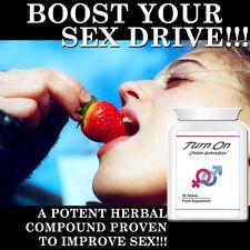 TURN ON APHRODISIAC PILLS TABLETS INCREASE SEX DRIVE PERFORM GREAT HIGH LIBIDO
