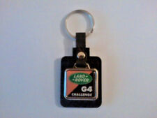 Land Rover G4 Challenge Leather/Metal Keyring