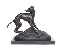 Jean-François-Théodore Gechter, Animalier, Bronze Whippet Windhund Jagd