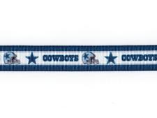 "Dallas Cowboys 5/8"" Grosgrain Ribbon 1,3,5,10 Yards Football Ship From Usa"