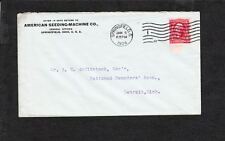 American Seeding Machine Co Springfield Ohio 1904 Machine Cancel to Detroit z26