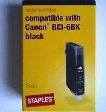 Staples c-16 compatible Canon bci-6bk per BJC 8200/s800-9000/i865-9950/pixma IP
