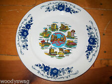 Las Vegas Blue and White Plate Landmark Dunes Sahara Stardust vintage Japan