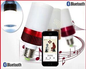TOP Ampoule musicale enceinte leds E27 speaker bulb bulbs Blanc Froid bluetooth