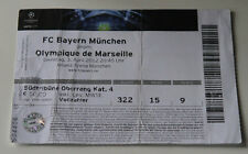 old TICKET CL Bayern Munchen Germany - Olympique Marseille OM France