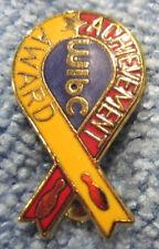 """""""WIBC ACHIEVEMENT AWARD"""" RIBBON METAL/ENAMEL LAPEL/HAT PINBACK BOWLING PIN"""