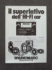 G144-Advertising Pubblicità-1982 - SPARKOMATIC AMERICAN HI-FI CAR