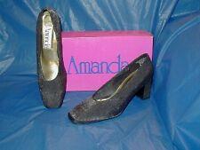 Amanda, Black High Heel Pump  , Womens Dress Shoe,  8 M ( B )