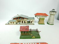 BD888-2# 4x H0 Modell: Bahnhof Isny/Allgäu + Stellwerk + Wasserturm etc