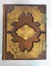 Exceptional 19th Century Leather Bound Catholic Bible Gustav Dore