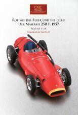 CMC Prospekt Modellauto Maserati 250 F 1957 1:18 brochure model car miniature