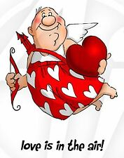 FUNNY VALENTINE Cupid Set Cling Unmounted Rubber Stamps Art Impressions 4214 NEW
