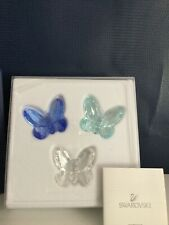 Swarovski Crystal 3 Colorful Small Butterfly Figurines