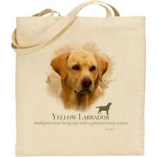 Yellow Labrador Dog Breed H Robinson reusable cotton shopping/shoulder/tote bag