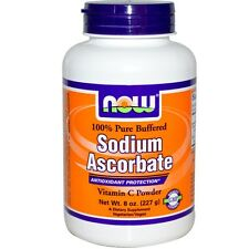 NOW FOODS SODIUM ASCORBATE DIETARY SUPPLEMENT VITAMIN C POWDER 8 oz 227 g