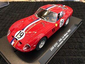 FLY 88218 PRISTINE FERRARI 250 GTO 24h. LEMANS 1962 RARE NOS A-1803 Slot Car