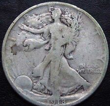 1918 United States Walking Liberty Silver Half Dollar F