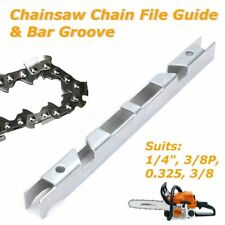 "1x Depth Gauge File Guide + Bar Groove 1/4"" 3/8"" P 0.325"" for Chain Saw Chainsaw"