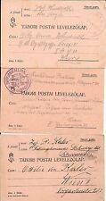 AUSTRIA(&HUNGARY?)- 3 W W 1 Feldpost cards-all to Wien- Hungarian printer