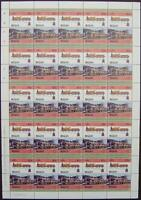1882 LBSCR GLADSTONE Class 0-4-2 Train 50-Stamp Sheet (Leaders of the World)