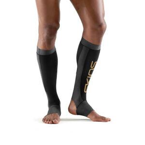 Skins Unisex K-Proprium Calf Tights Bottoms Pants Trousers Black Sports Running