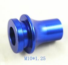 NEW BLUE CNC BILLET SHIFT KNOB BOOT RETAINER ADAPTER FOR MAZDA 2 3 5 6 MT