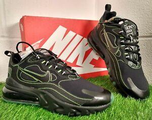Nike Air Max 270 React Blk Electric Green Shoes Size UK 8.5 EU 43 CQ6549-001