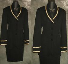 BEAUTIFUL St John evening jacket black knit suit blazer size 8