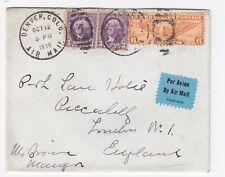 1936 Denver Colorado 12c Air Mail Cover to London England - Postal History