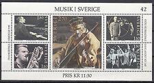 Schweden Block 11 postfrisch Musik in Schweden